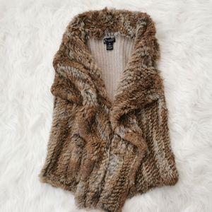 Bloomingdale's angora fur vest XS